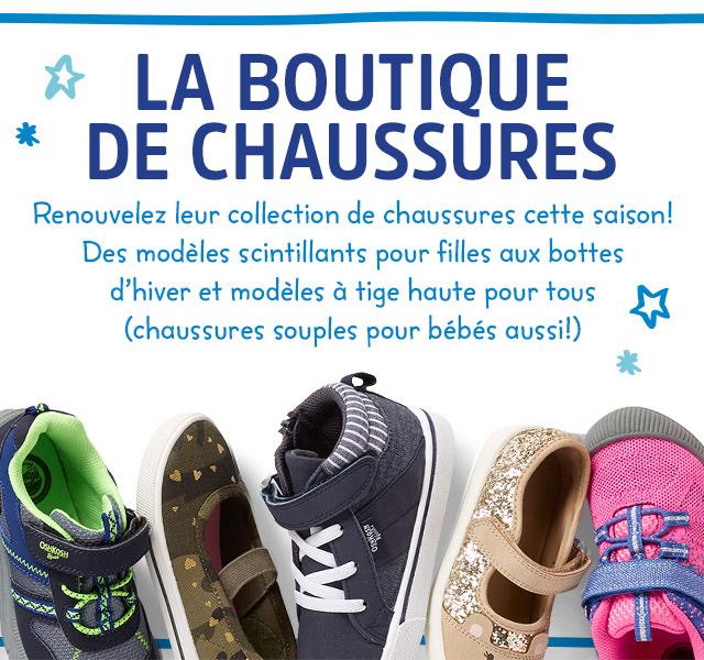 LA BOUTIQUE DE CHAUSSURES | Renouvelez leur collection de chaussures cette saison! Des modèles scintillants pour filles aux bottes d