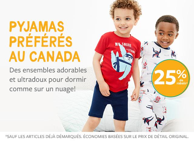 pyjamas préférés au canada | des ensembles adorables et ultradoux pour dormir comme sur un nuage! | 25% de rabais