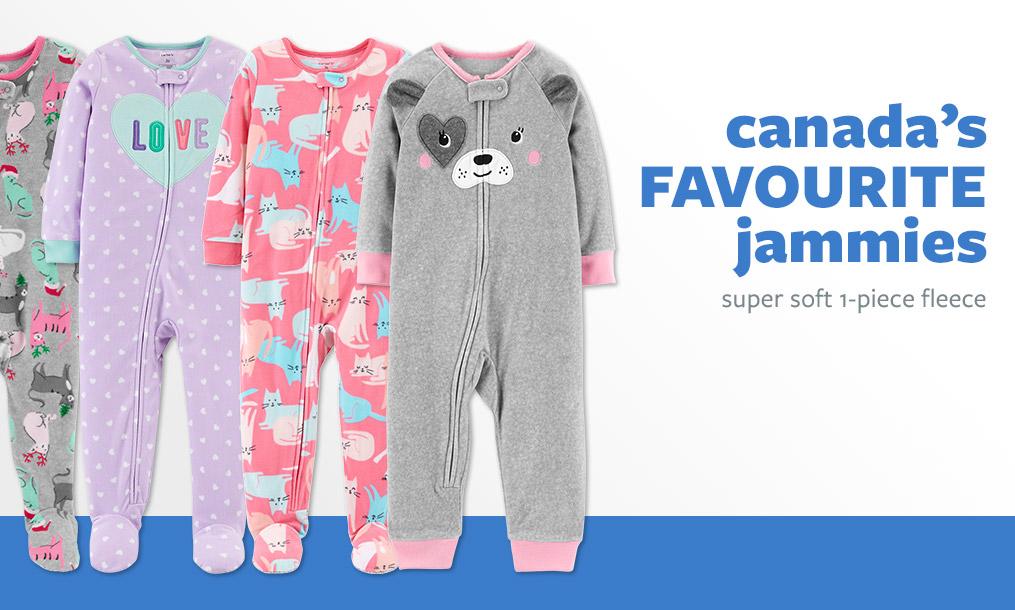 canada's FAVOURITE jammies   super soft 1-piece fleece