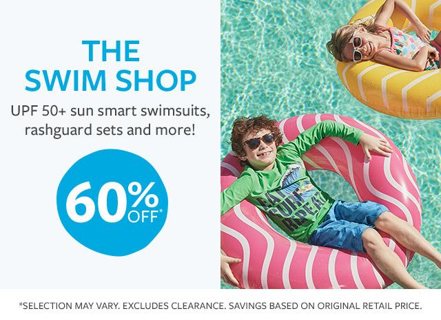 THE SWIM SHOP | UPF 50+ sun smart rashguard sets, swim accessories & more! | 60% OFF*