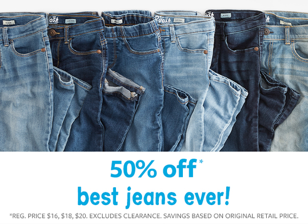 50% off best jeans ever!