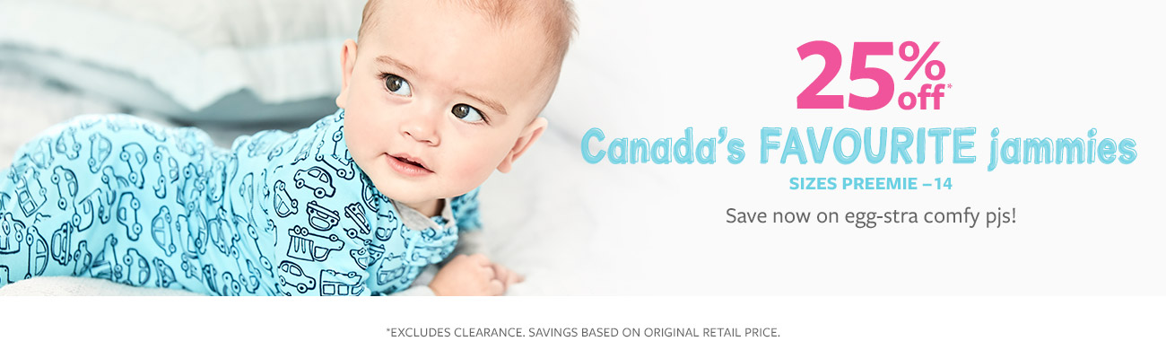 25% off Canada's favourite jammies | save now on egg-stra comfy pjs!