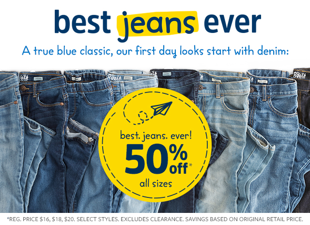 best.jeans, ever. made with every kid in mind! | 50% off