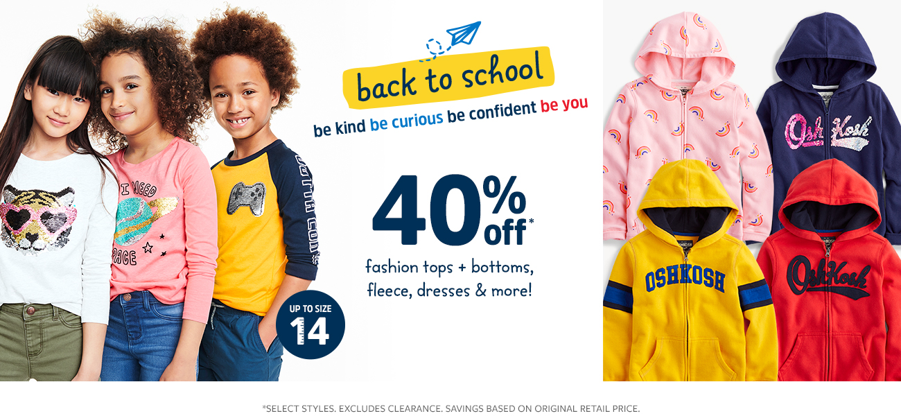 back to school 40% off
