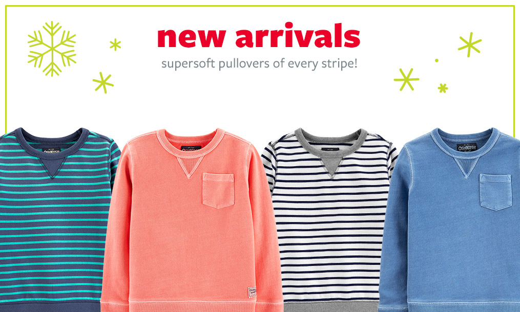 new arrivals | supersoft pullovers of every stripe!