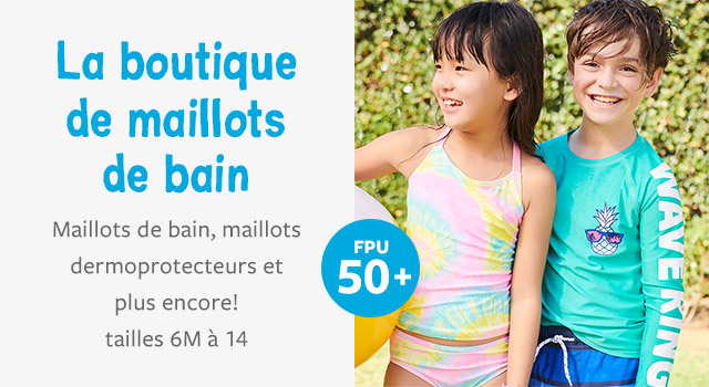 la boutique DE MAILLOTS DE BAIN - PROTECTION UV 50+