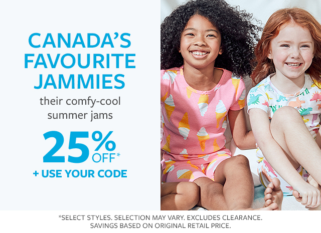 Canada's favourite pjs | their comfy-cool summer jams | 25% off + use your code