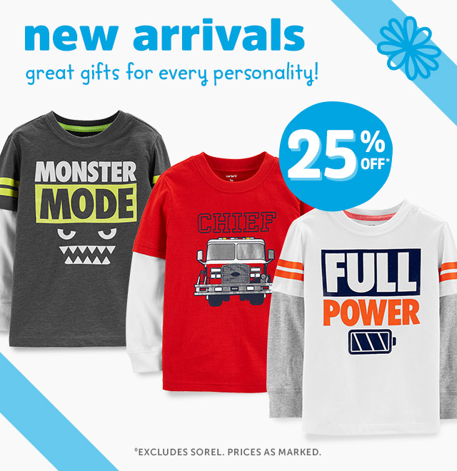 New Arrivals   great gifts for every personality! 25%0ff