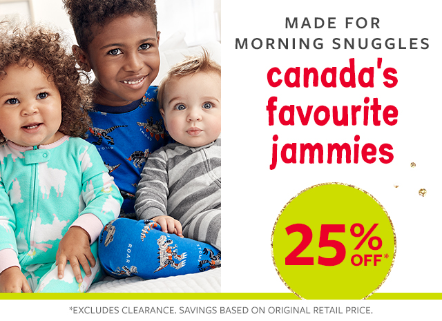25% off Canada's favourite jammies | made for morning snuggles
