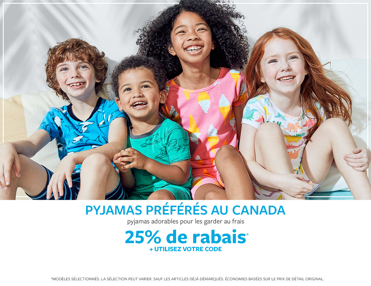 pyjamas préférés au canada | pyjamas adorables pour les garder au frais | 25% de rabais* + utilisez votre code