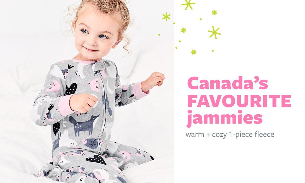 Canada's favorite jammies | warm + cozy 1-piece fleece