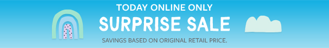 today online only surprise sale