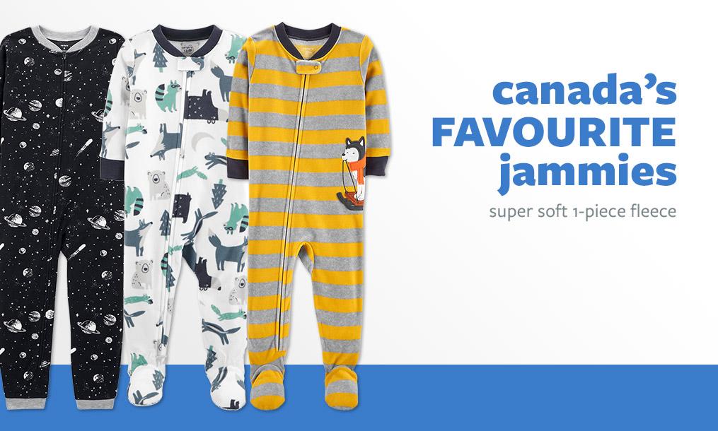 canada's FAVOURITE jammies | super soft 1-piece fleece