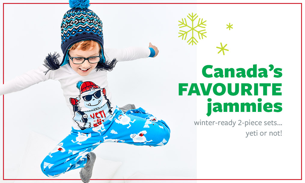 Canada's favourite jammies   winter-ready 2-piece sets...yeti or not!