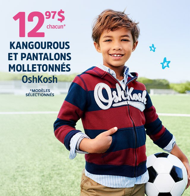 12,97 $ CHACUN KANGOUROUS ET PANTALONS MOLLETONNES