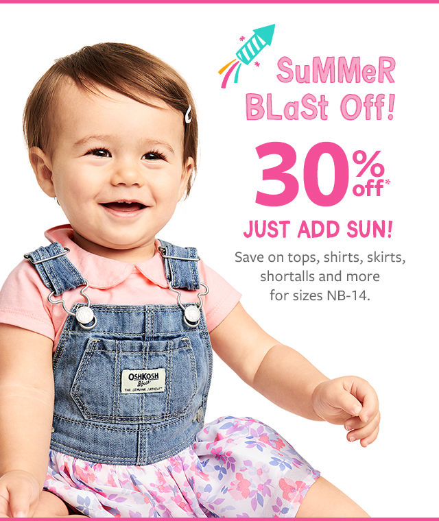 407d518defe summer blast off! 30% off just add sun! save on tops