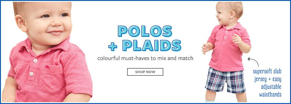 polos and plaids.