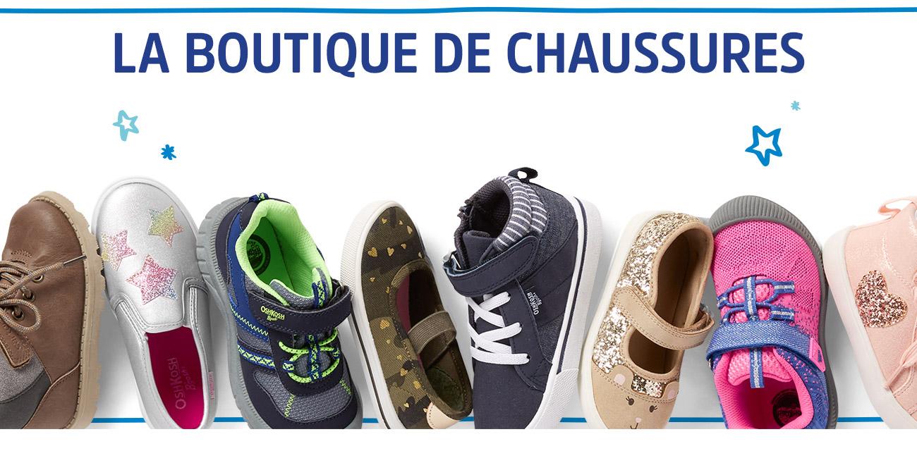 LA BOUTIQUE DE CHAUSSURES | Renouvelez leur collection de chaussures cette saison! Des modèles scintillants pour filles aux bottes d'hiver et modèles à tige haut pour tous, (chaussures souples pour bébés aussi!)