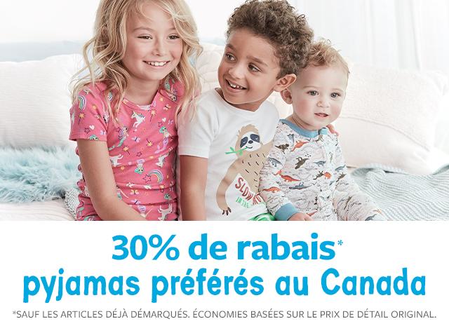 30% de rabais pyjamas