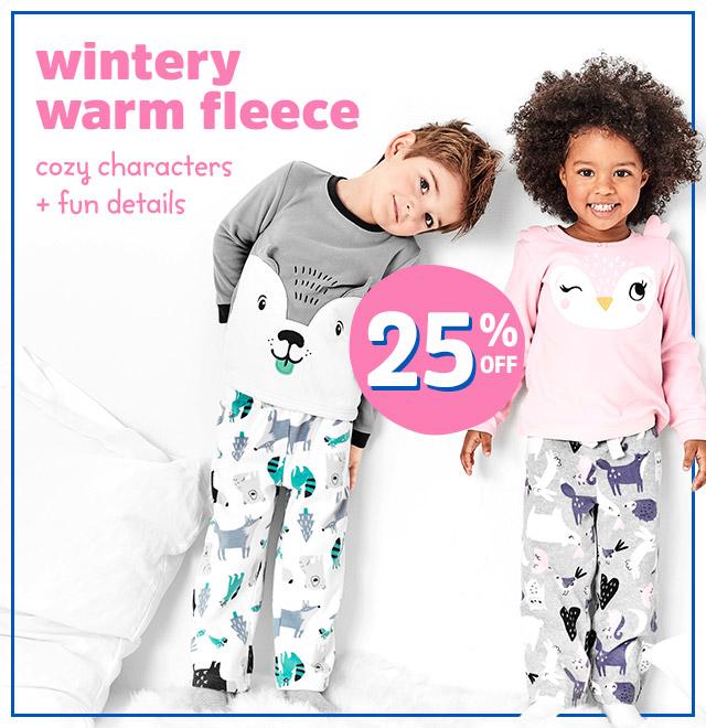 Wintery warm fleece   cozy characters + fun details