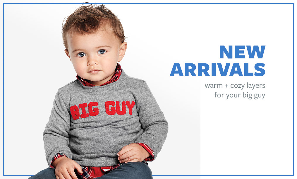 NEW ARRIVALS | warm + cozy layers for your big guy