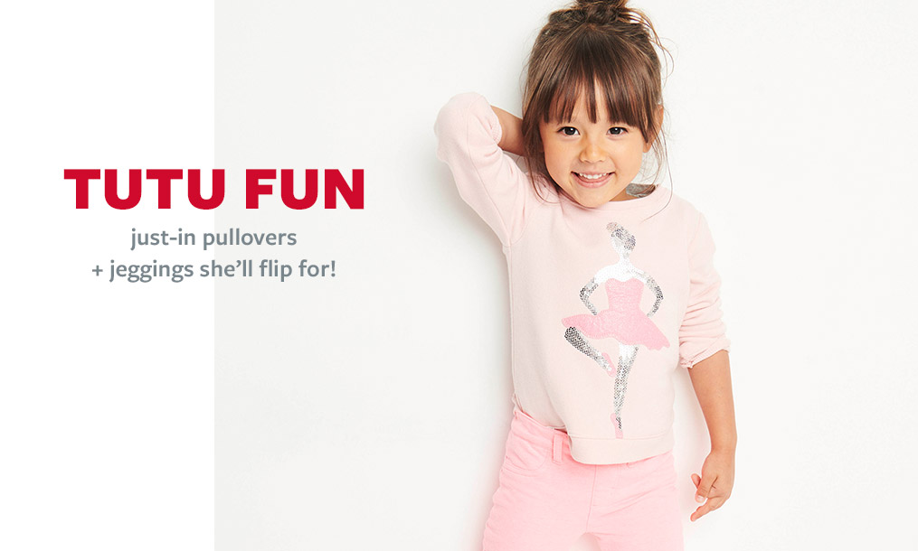 tutu fun | just-in pullovers + jeggings she'll flip for!