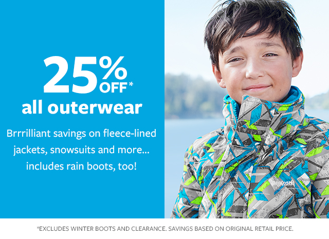 all outerwear 25% off