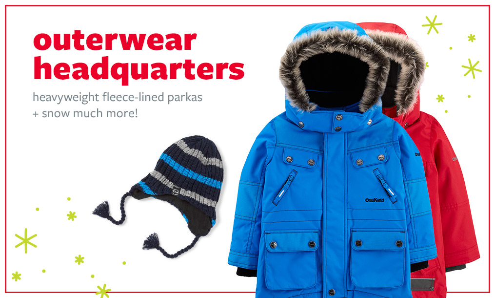 outerwear headquarters   heavyweight fleece-lined parkas + snow much more!