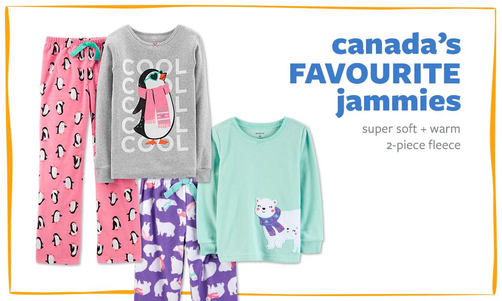 canada's FAVOURITE jammies | super soft + warm 2-piece fleece