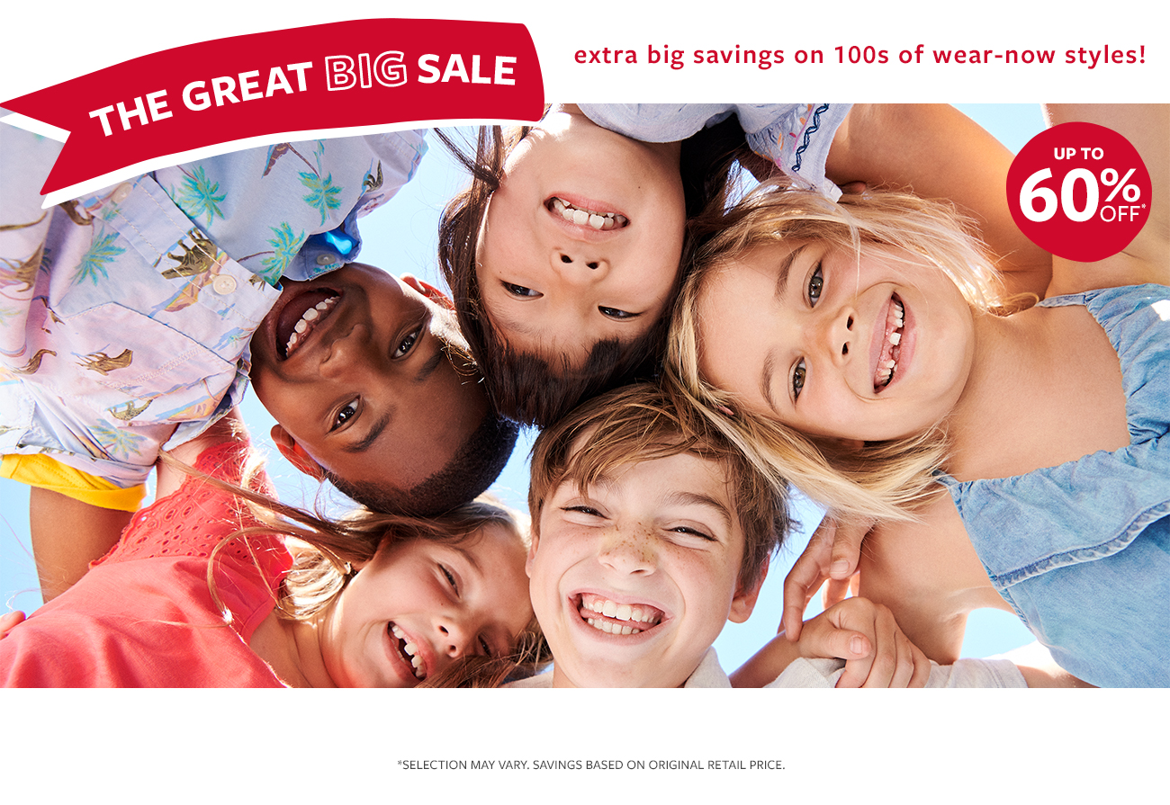 The Great BIG Sale | extra big savings on 100s of wear-now styles! | UP TO 60% OFF