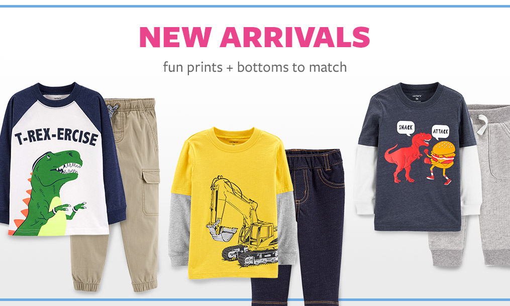 new arrivals   fun prints + bottoms to match