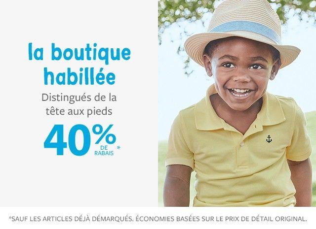la boutique habillée 40% de rabais