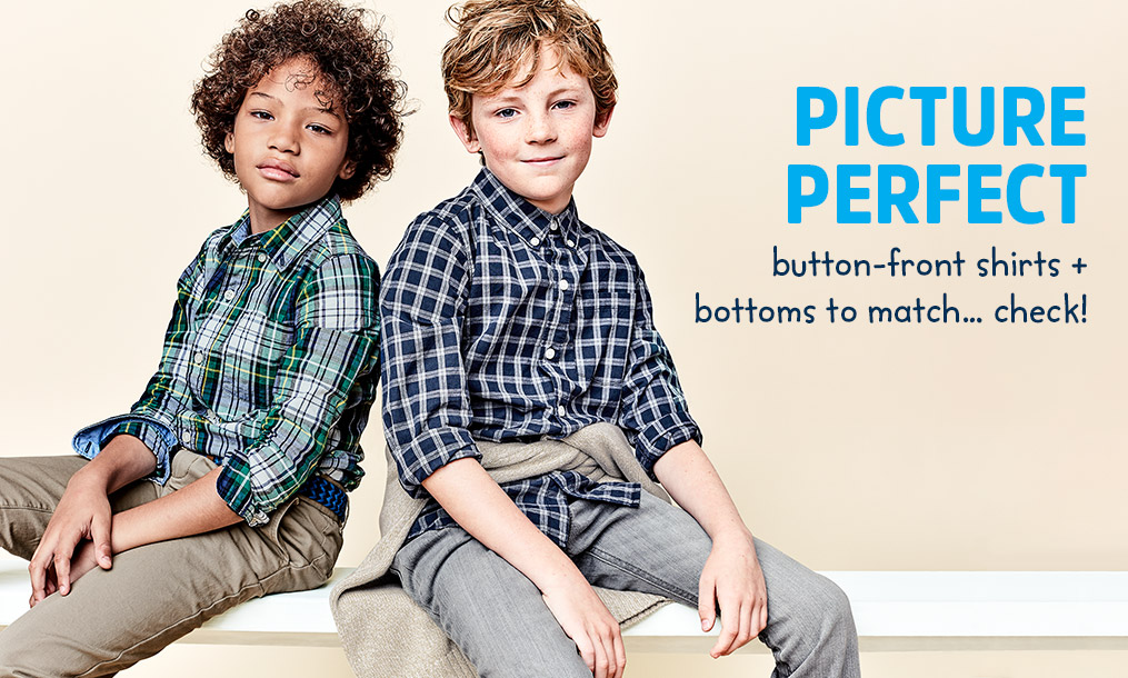 Picture Perfect button-front shirts + bottoms to match... check!