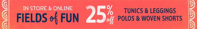 in store & online 25% off