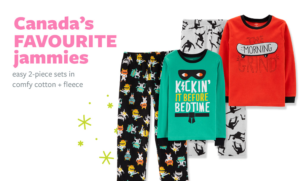 Canada's favourite jammies | easy 2-piece sets in comfy cotton + fleece