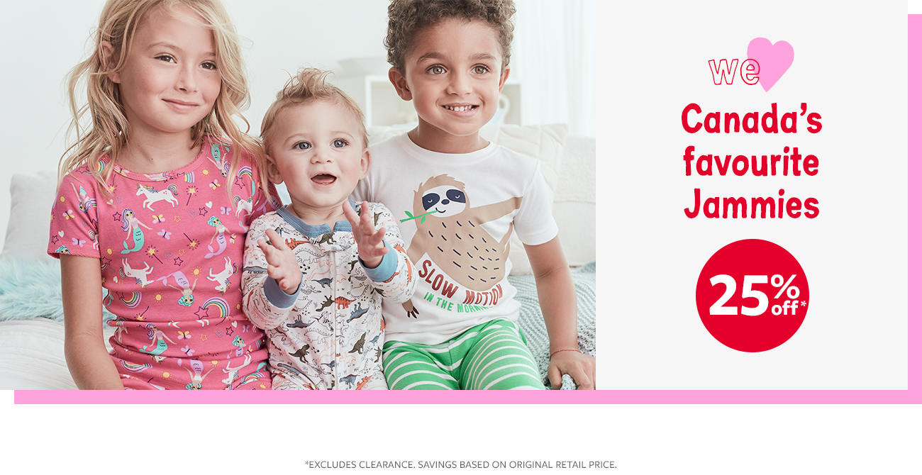 canada's favourite jammies 25% off