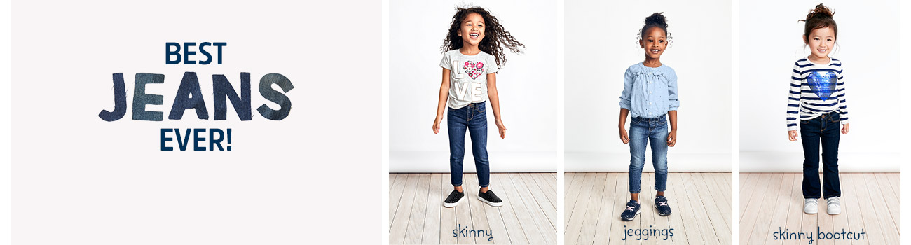 BEST JEANS EVER! From skinny girls jeans to pairs with flare, there's a fit for everyone. skinny | jeggings | skinny bootcut