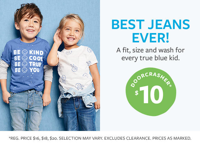 BEST JEANS EVER! | A fit, size and wash for every true blue kid. | DOORCRASHER* $10