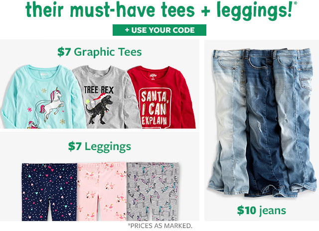 their must-haves tees + leggings! | $7 graphic tees | $7 leggings | $10 jeans