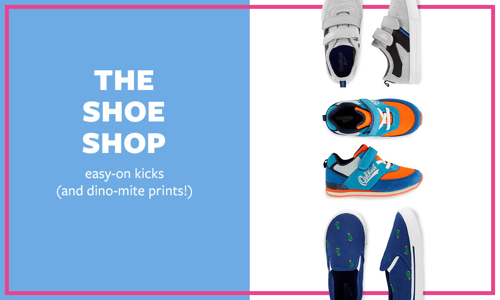 the shoe shop | easy-on kicks (and dino-mite prints!)