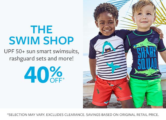 the swim shop | upf 50+ sun smart swimsuits, rashquard sets and more! 40% off*