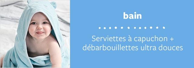 bain | Serviettes à capuchon + débarbouillettes ultra douces