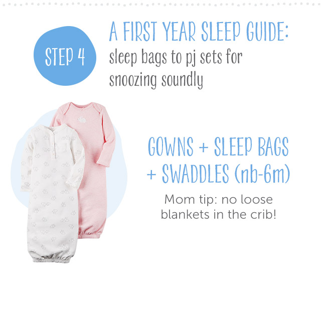 Step 4 - First Year Sleep Guide | Gowns + Sleep Bags + Swaddles (nb-9m)