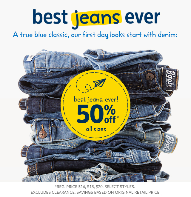 best. jeans, ever. made with every kid in mind! | 50% off all sizes