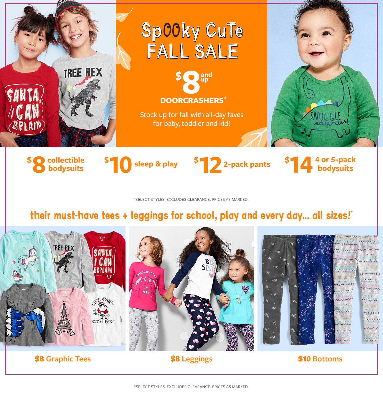 spooky cute fall sale   $8 and up doorcrashers