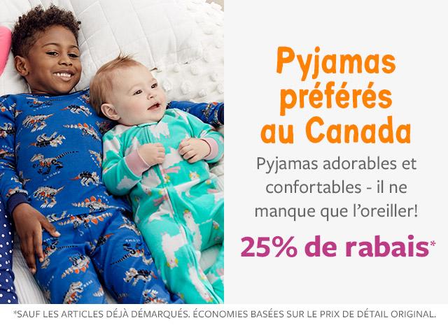 25% de rabais pyjamas préférés au Canada