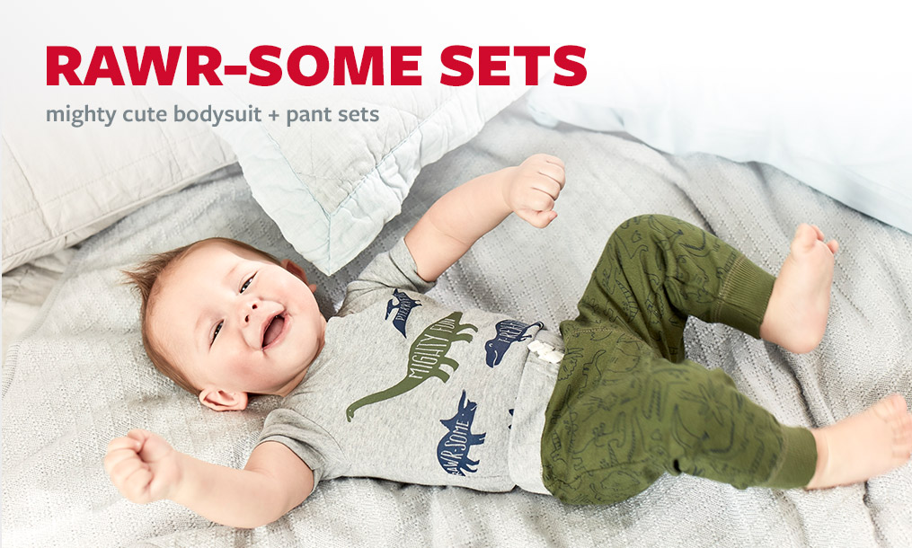 rawr-some sets | mighty cute bodysuit + pant sets