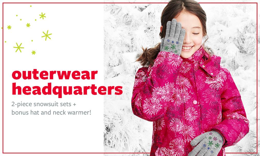 outerwear headquarters | 2-piece snowsuit sets + bonus hat and neck warmer!