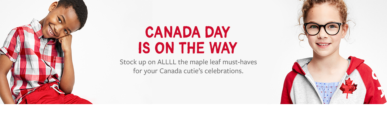 Canada day is on the way | stock up on All the maple leaf must-haves for your canada cutie's celebrations.