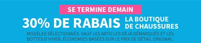 En Magasin Et En Ligne | Se Termine Demain | 30% De Rabais La Boutique De Chaussures